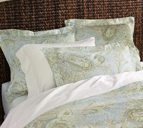 Sienna paisley duvet cover shams blue 2