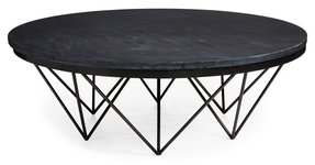 Stone round coffee table