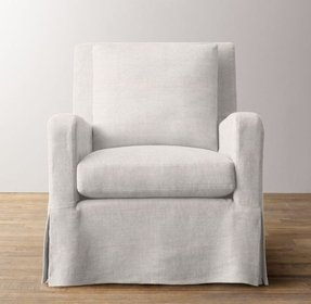 Swivel glider chair with ottoman 3