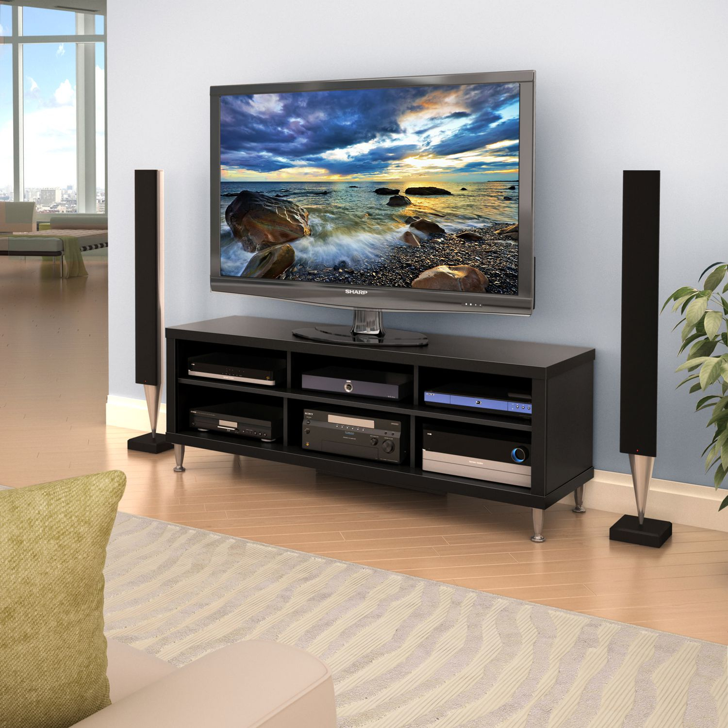 Tv Stand With Storage For Flat Screen Tv 14