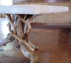 twisted wood table foter
