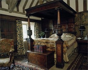 Wooden four poster bed 2