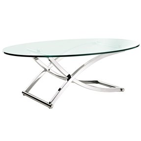 144 glass and chrome coffee table