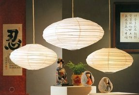 "22"" Hotaru Rice Paper Japanese Hanging Lantern Lamp with Light Kit White"
