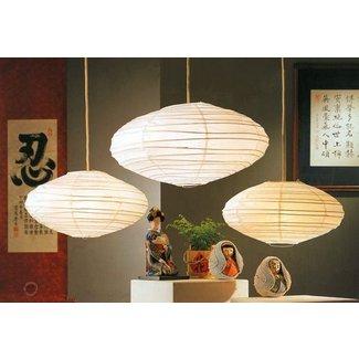 22 Hotaru Rice Paper Anese Hanging Lantern Lamp With Light Kit White