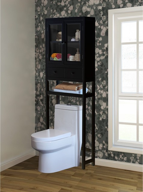 Charmant Black Bathroom Space Saver Over Toilet   Foter