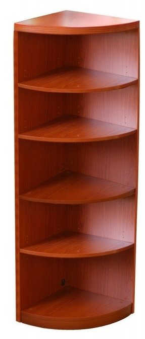 "5 Shelf Quarter Round 68.75"" Bookcase"