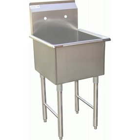 "ACE 1 Compartment Stainless Steel Commercial Food Preparation Sink 18""W x 18""L ETL Certified"