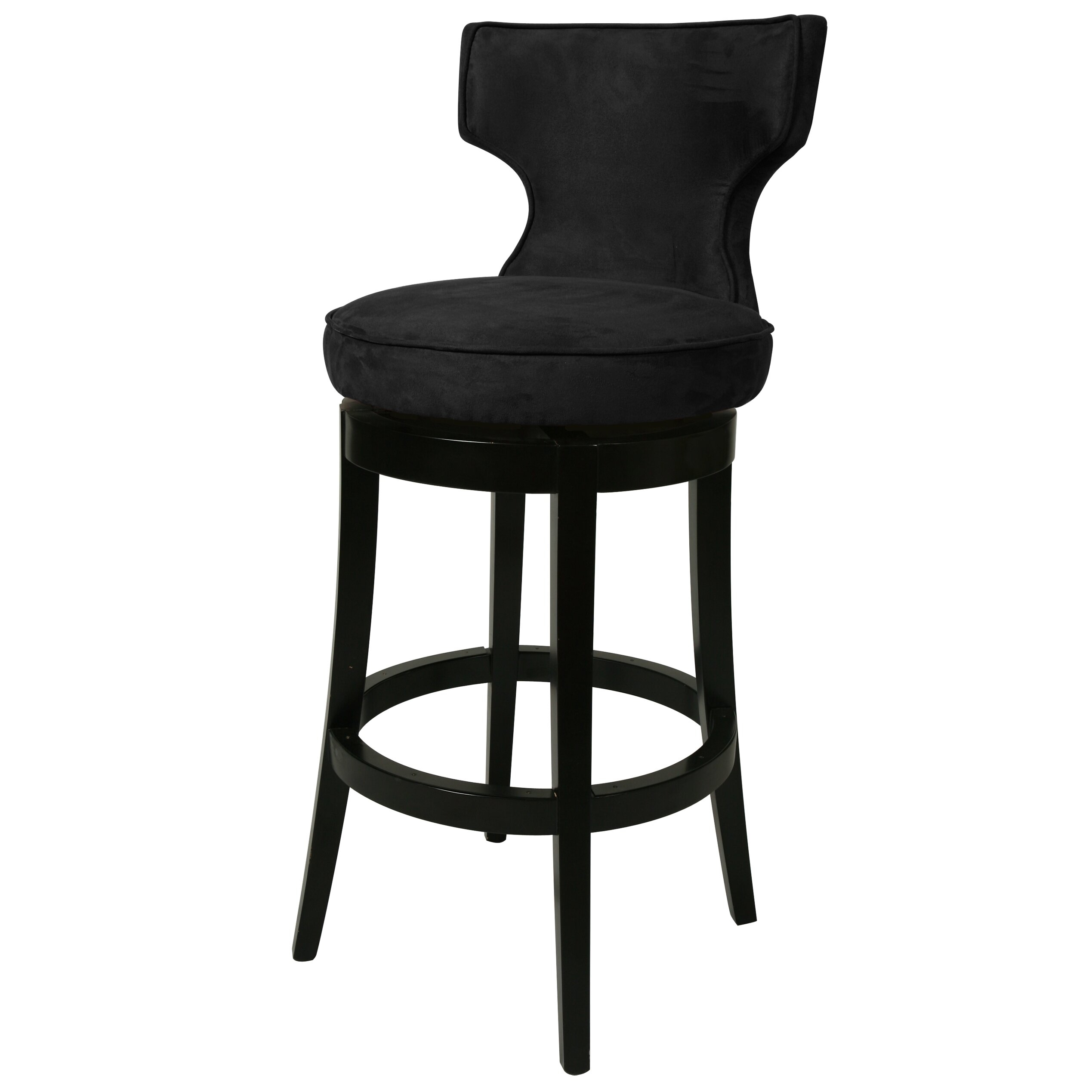 Augusta black wood counter stool