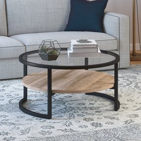 Wrought Iron And Gl Coffee Tables Foter