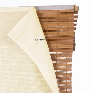 Blackout liner for bamboo shades