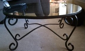 Cast Iron Coffee Table With Gl Top
