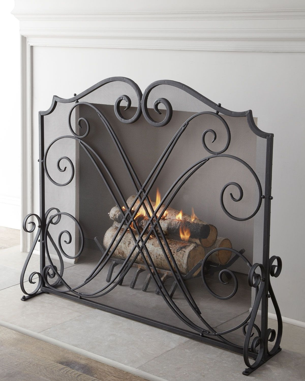 Exceptionnel Decorative Fireplace Screens Wrought Iron   Ideas On Foter
