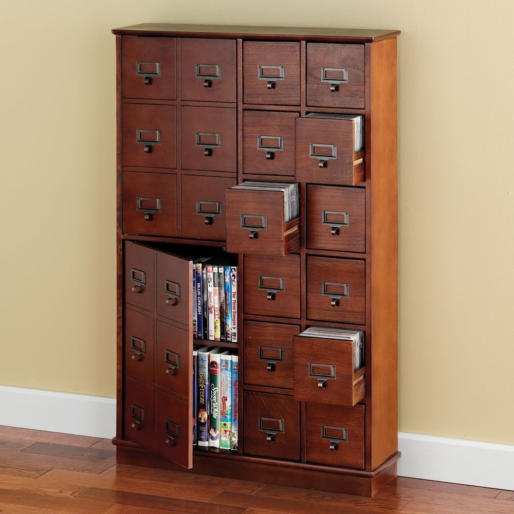 Cd storage cabinet wood