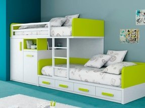 Children bunk beds with storage
