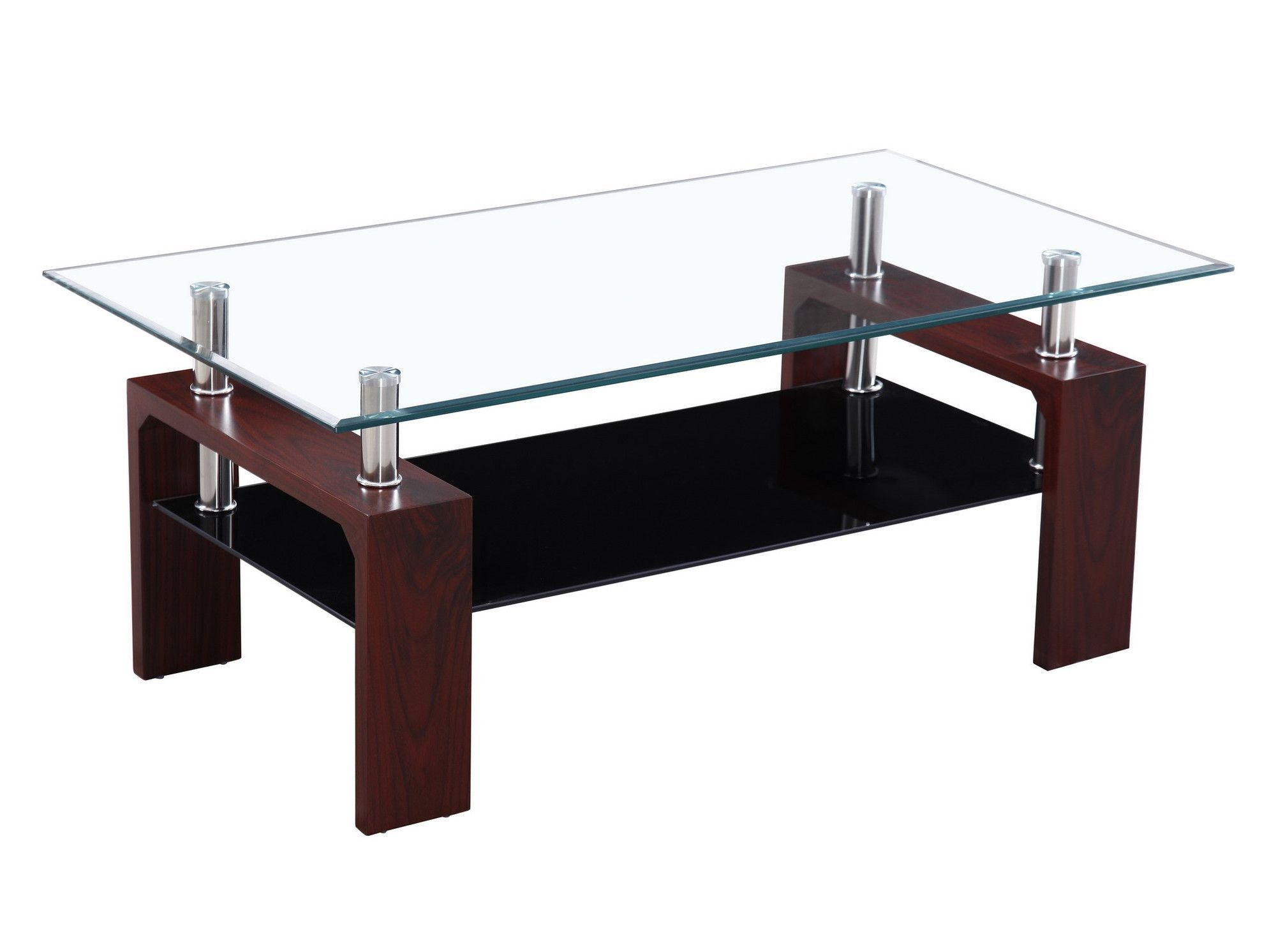 Contemporary Rectangle Coffee Tables In A 2 Shelf Style. Make A Glass Top  Cocktail Table