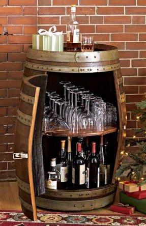 Locked Bar Cabinet - Foter