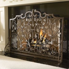 Fireplace screen decorative 1
