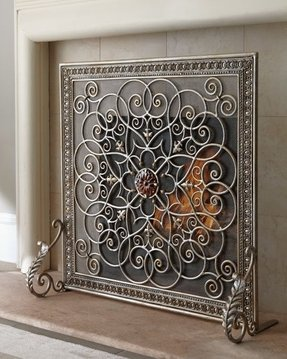 Fireplace screen decorative 11