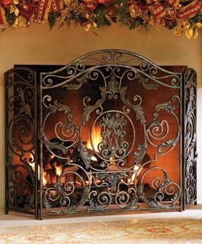 Fireplace screen decorative only
