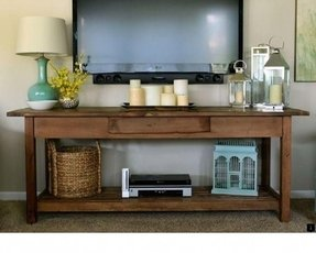 Flat screen tv console tables