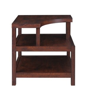 Furniture of America Torsae 3-Shelf End Table, Vintage Walnut