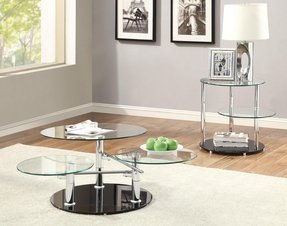 Glass and chrome coffee tables 20