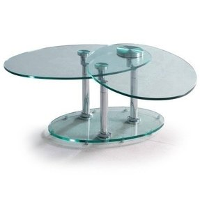 Glass and chrome coffee tables 5
