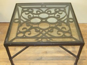 wrought iron and glass coffee tables - foter Wrought Iron Coffee Table