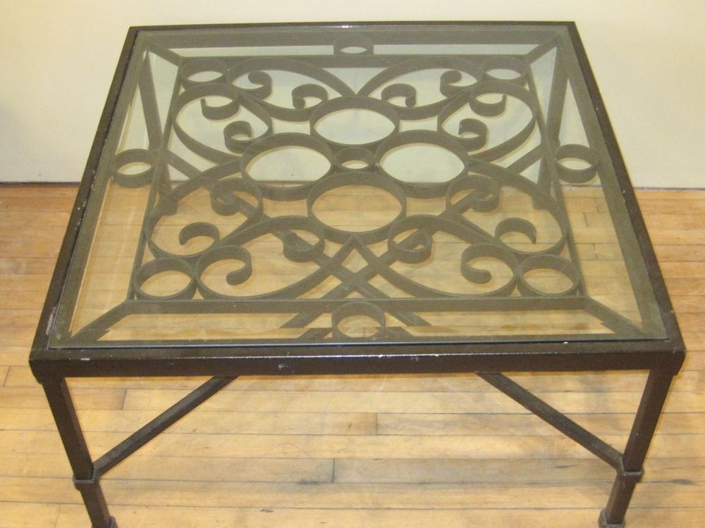 Wrought Iron And Glass Coffee Tables   Ideas On Foter