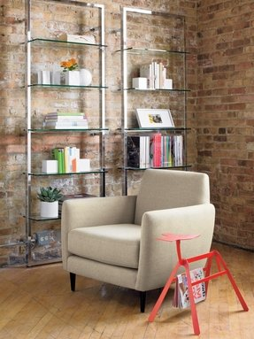 Glass Shelving Units Living Room Ideas On Foter