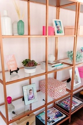 Glass Shelving Units Living Room Foter
