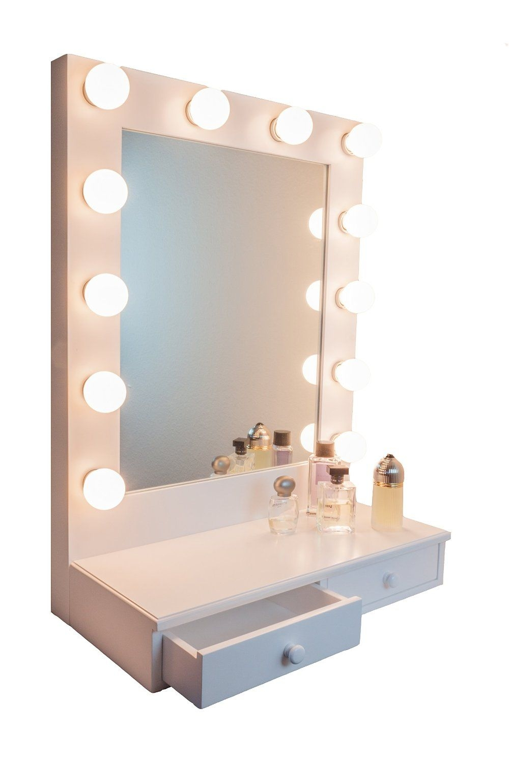 Hollywood D-luxe Vanity Mirror With Drawers by Impressions Vanity White