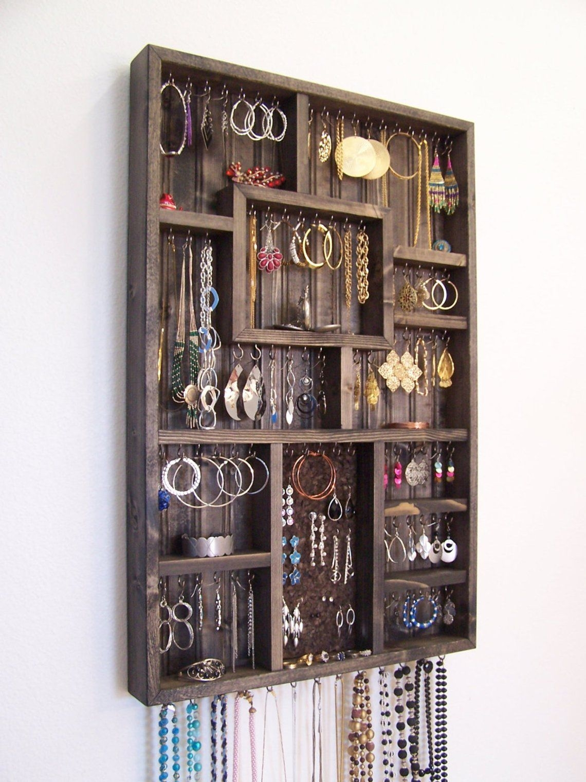 Jewelry Box With Necklace Hooks Foter