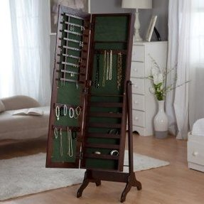 Free Standing Jewelry Armoire With Mirror - Foter