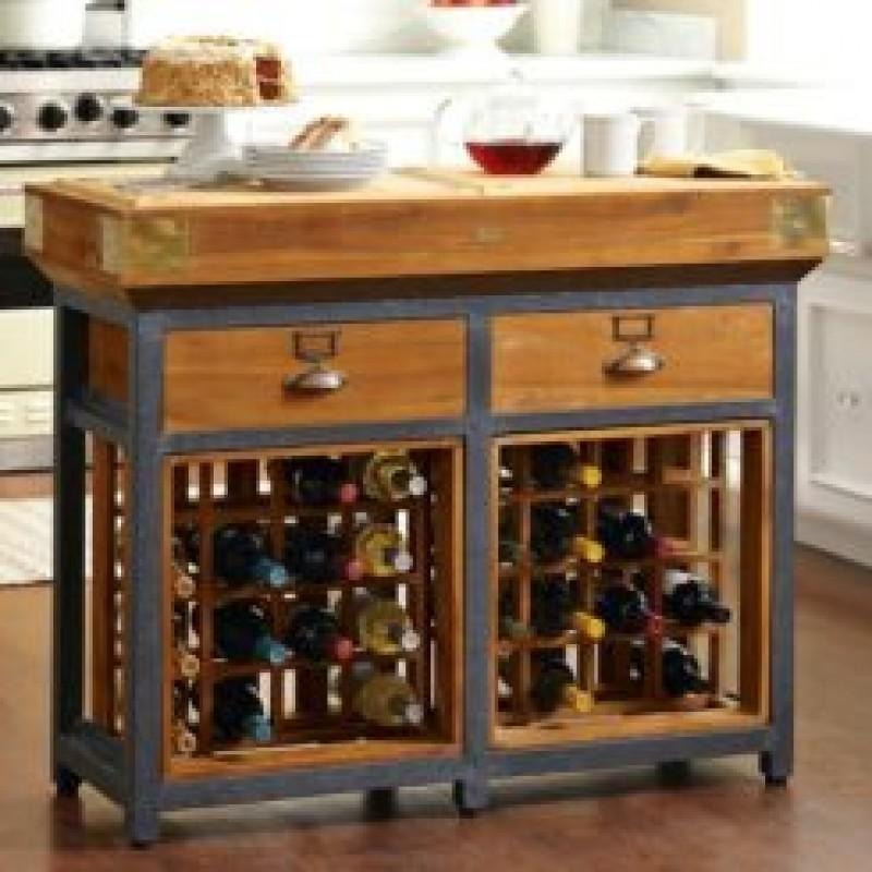 Kitchen island wine storage & Kitchen Island With Wine Rack - Foter