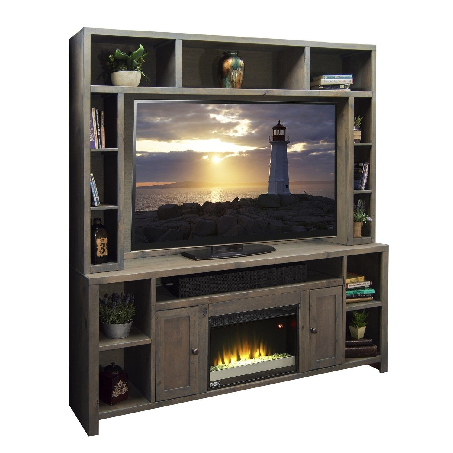 Legends Furniture Joshua Creek 84 Tv Stand With Electric Fireplace