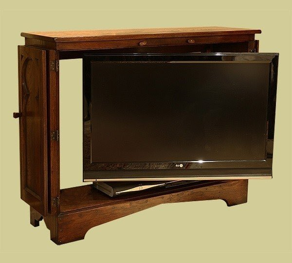 Limed Oak Tv Cabinet