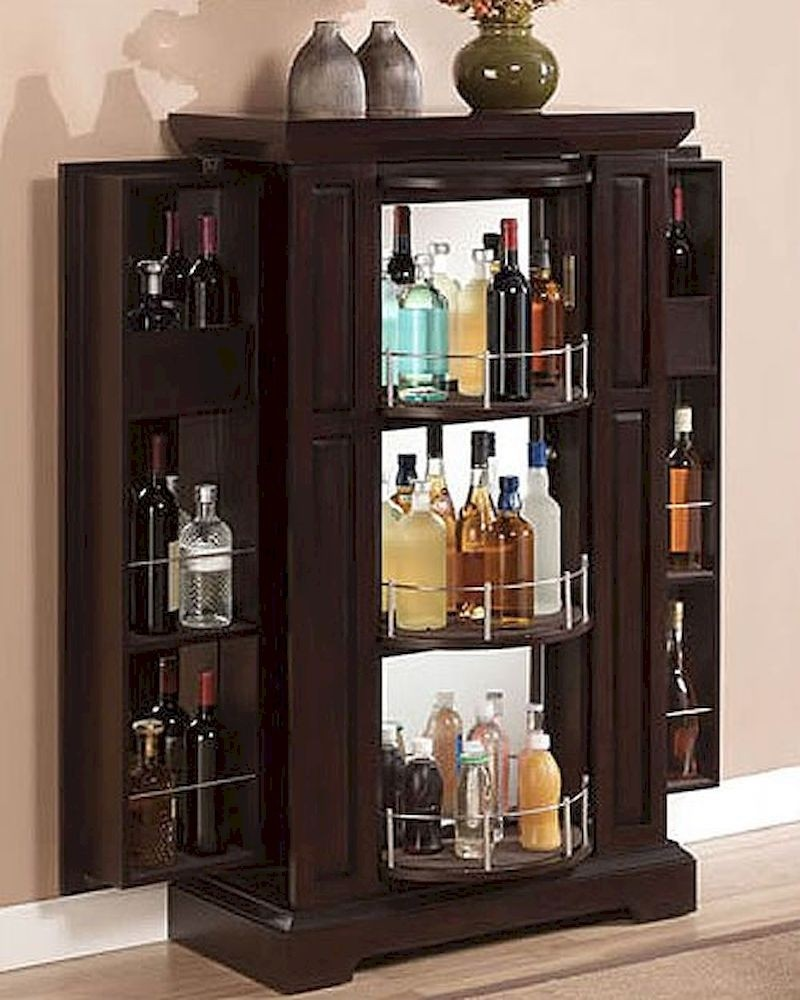 Genial Lockable Liquor Cabinet