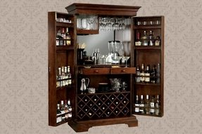 Locked Bar Cabinet - Foter