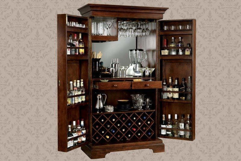 Locked Bar Cabinet