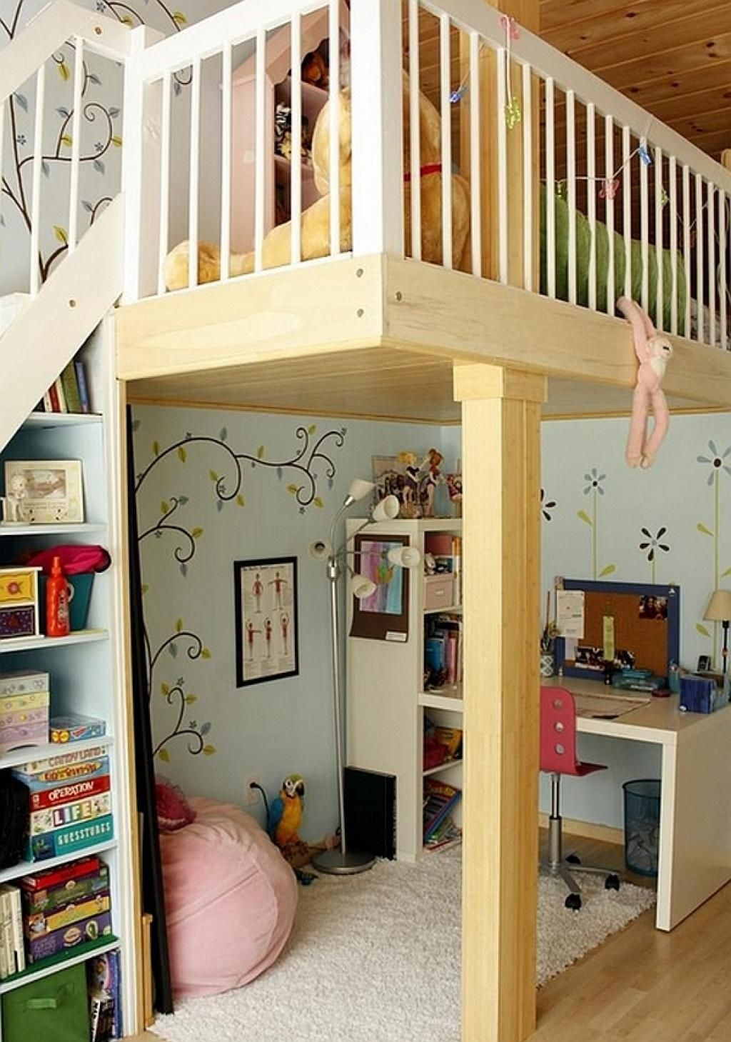 Loft Bed With Table