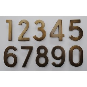 Mailbox plaques numbers 11