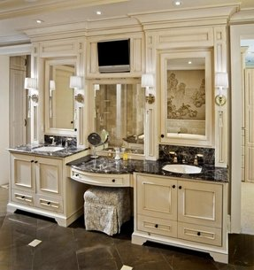 traditional double sink bathroom vanity - foter