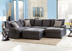Microfiber chaise sectional