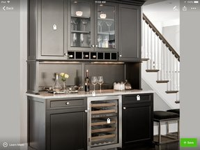 Needham bar traditional kitchen boston