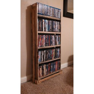 Pallet wood dvd rack holds approx 230