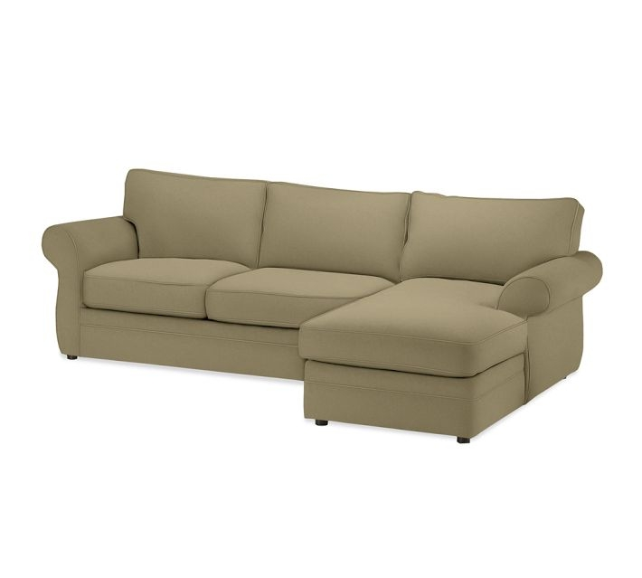 Pearce upholstered chaise sofa sectional suede
