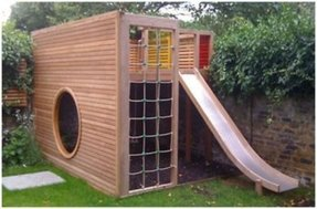 Playhouse with slide