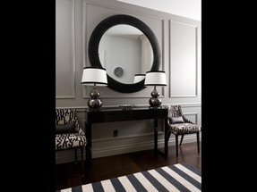 Round mirror black frame